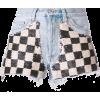 OFF-WHITE Sequin Check Denim Shorts - Shorts -