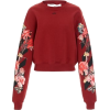 OFF-WHITE red floral sweater - Maglioni -
