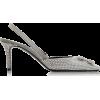OFF WHITE silver crystal mule - Klasične cipele -