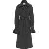 OLIVIER THEYSKENS grey wool trench coat - Jacket - coats -