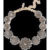 OSCAR DE LA RENTA Burnished gold-tone cr - Necklaces -