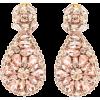OSCAR DE LA RENTA Crystal-embellished ea - Earrings -