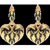OSCAR DE LA RENTA Painted heart earrings - Orecchine -