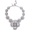 OSCAR DE LA RENTA Silver-tone crystal ne - Necklaces -