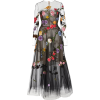 OSCAR DE LA RENTA black floral tulle - Dresses -