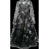 OSCAR DE LA RENTA black & metallic dress - Vestiti -