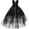 OSCAR DE LA RENTA black strapeless dress - Vestiti -