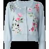 OSCAR DE LA RENTA blue embroidered - Puloverji -