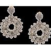 OSCAR DE LA RENTA crystal beaded hoop ea - Naušnice -