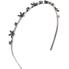 OSCAR DE LA RENTA navy crystal headband - Other jewelry -
