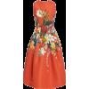 OSCAR DE LA RENTA orange floral dress - Dresses -