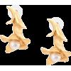OSCAR DE LA RENTA pearl flower earrings - Kolczyki -