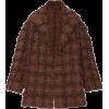 OSCAR DE LA RENTA plaid coat - Jacket - coats -