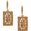 OSCAR DE LA RENTA rectangular embellishe - Earrings - $250.00