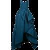 OSCAR DE LA RENTA ruffle draped gown - sukienki -