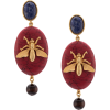 OSCAR DE LA RENTA stone drop earrings - Aretes -