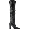 OVER-THE-KNEE HIGH-HEEL LEATHER BOOTS - Boots - £39.99  ~ $52.62
