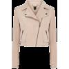 Oasis Suede Biker Jacket - Jacket - coats - $165.00