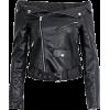 Off shoulder leather jacket - Kurtka -