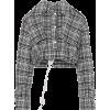 Off-White Cropped Plaid Jacket - Jacket - coats -
