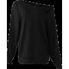 Off shoulder lantern sleeve jumper - Koszulki - długie -