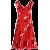 Off-the-shoulder ruffled skirt printed h - Dresses - $28.99