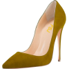 Olive Green Stiletto Heels - Classic shoes & Pumps -