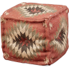One Kings Lane Karla Pouf Sienna - Furniture -
