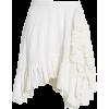Opal Seersucker Ruffle Trim Miniskirt LO - Skirts -