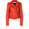 Orange Leather Jacket - Chaquetas -