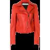 Orange Leather Jacket - Giacce e capotti -