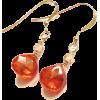 Orange Zircon Gemstone Earrings - Earrings - $25.00