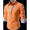 Orange French cuff shirt - Shirts -