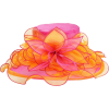 Orange Fuchsia Wedding Dress Hat  - Hat - $49.99