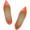 Orange Jimmy Choo Alina Flat - Flats -
