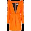 Orange Long Sleeve Mini - Vestidos -