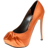 Orange Satin Heels - Sapatos clássicos -