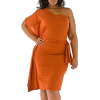 Orange cocktail dress - Dresses -