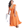 Orange evening dress (Vestidos) - Dresses -