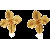 Oscar De La Renta Gold-Plated Clip Earri - Earrings -