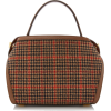 Oscar De La Renta Tro Glenplaid Wool Bag - Bolsas pequenas -