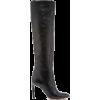 Oscar de la Renta BLACK LEATHER MARGOT K - Boots -