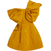 Oscar de la Renta Bow Moiré Dress - Vestidos -