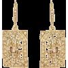 Oscar de la Renta CRYSTAL SQUARE EARRING - Earrings - $250.00