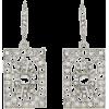 Oscar de la Renta CRYSTAL SQUARE EARRING - Earrings - $250.00  ~ £190.00