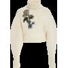 Oscar de la Renta Embroidered Wool Cashm - Pullovers -