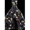 Oscar de la Renta High-Low Floral Sleeve - Dresses -