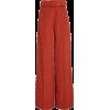Oscar de la Renta Moiré Wide-Leg Pants - Capri & Cropped -