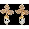 Oscar de la Renta PAVÉ LEAF ACORN EARRIN - Earrings - $350.00