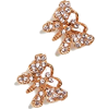 Oscar de la Renta Pave Butterfly Stud Ea - Earrings -
